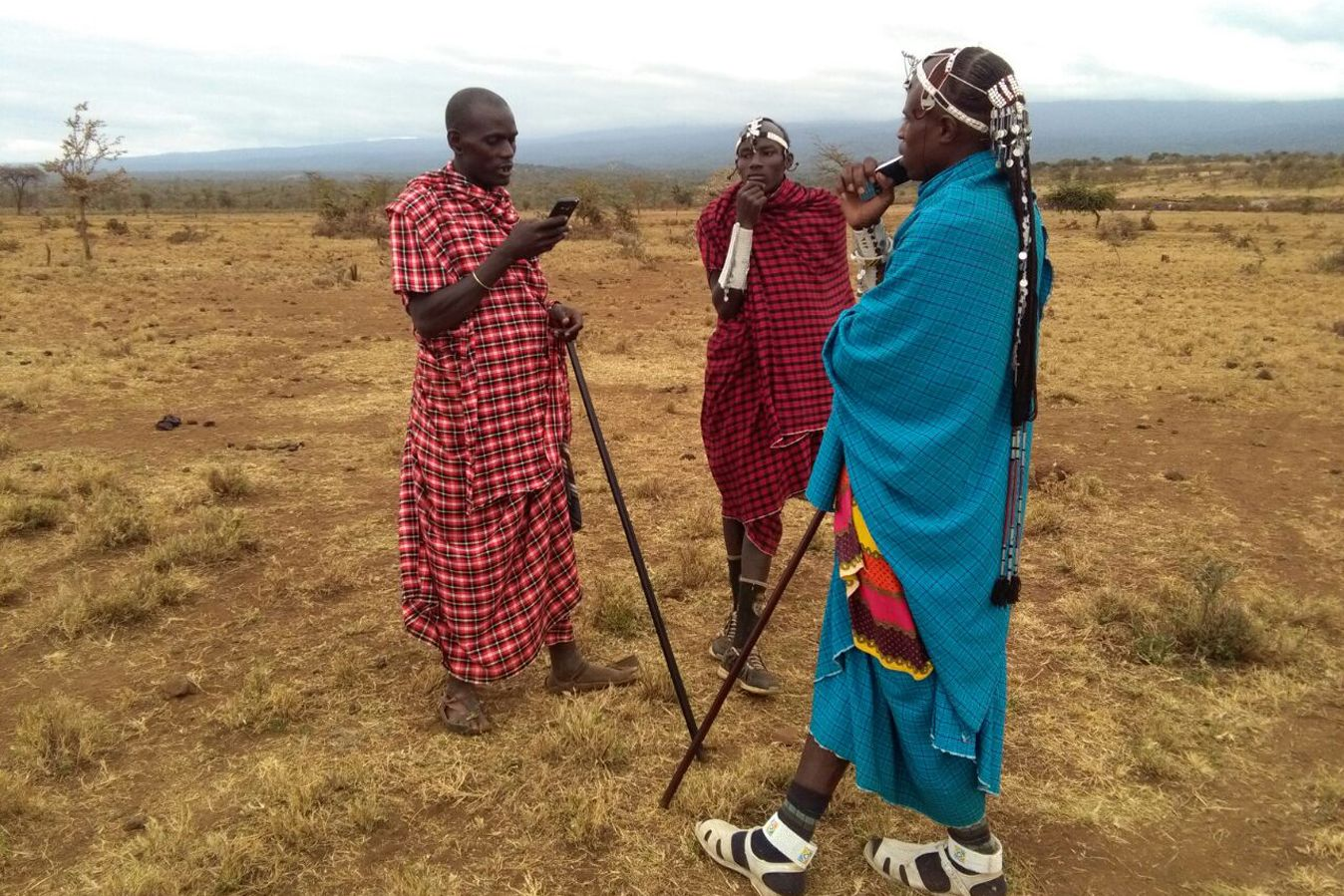 Warriors for Wildlife talk to community members in northern Tanzania about big cat conservation