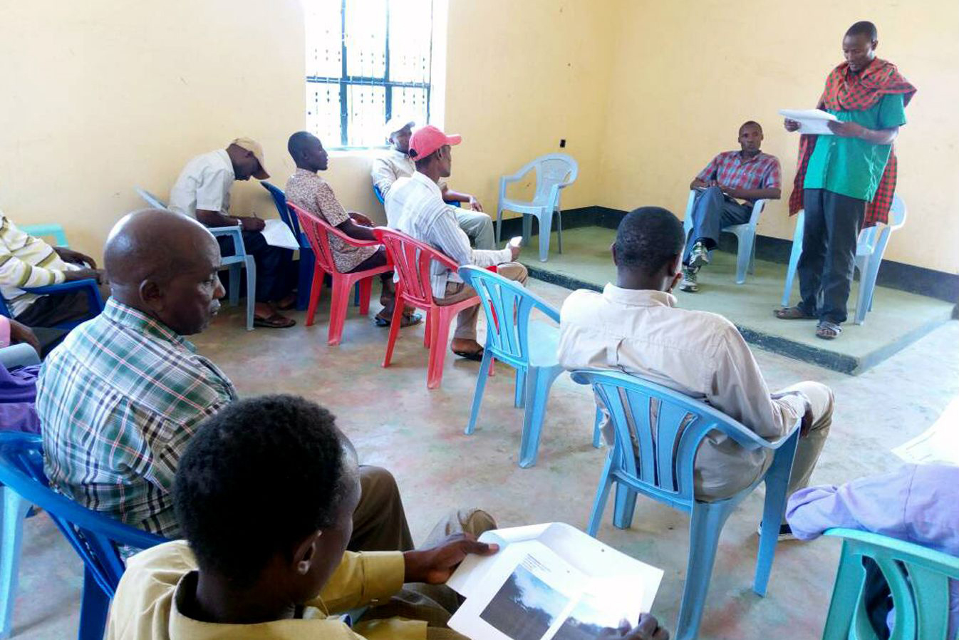 A grazing committee discusses the management of their rangelands in northern Tanzania.