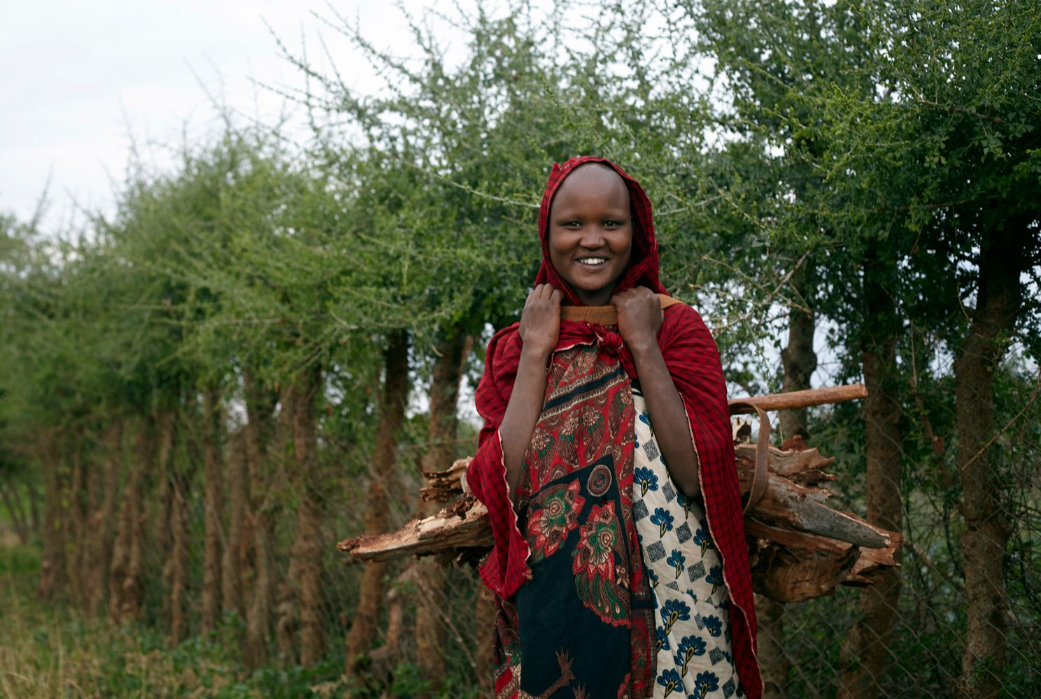 Maasai-woman-collects-firewood-compressor